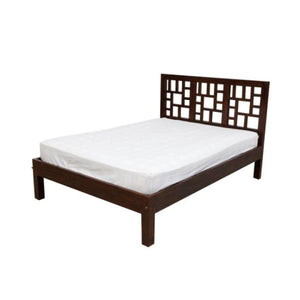 Harmoni Dark Teak Bed - King - 163 x 214 x 110