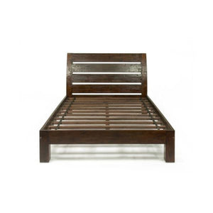 Henry Dark Teak Arc Bed - King Size