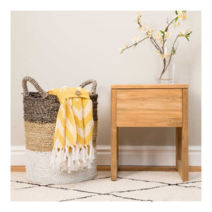Indah Natural 1 Drawer Side Table