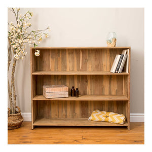 Indah Natural Teak Three Shelf Bookcase