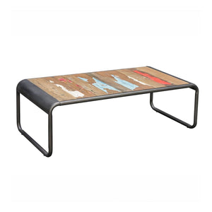 KLEO Recycled Wood Industrial Coffee Table