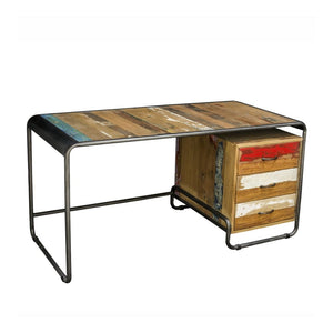 KLEO Recycled Wood Industrial Desk