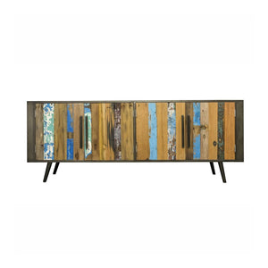 KLEO Recycled Wood Wide Industrial TV Unit