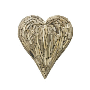 Medium Driftwood Heart Decoration