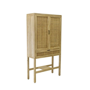 Natural Rattan Cabinet Wardrobe Storage