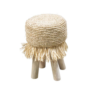 Natural Rattan Tassel Stool