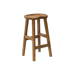 Natural Solid Teak Root Bar Stool