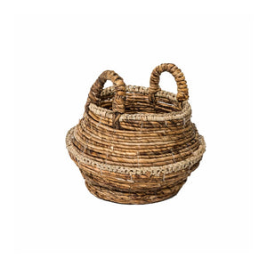 Natural Woven Banana Raffia Basket