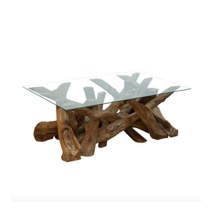 Reclaimed Teak Root Rectangular Coffee Table