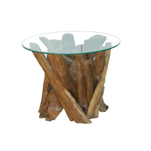 Reclaimed Teak Root Round Coffee Table