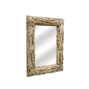 Rectangular Driftwood Mirror