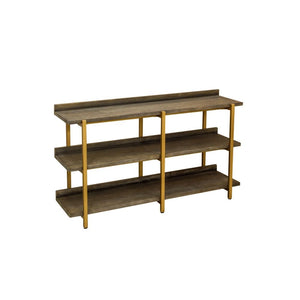 Retro Chic Black and Gold Console Shelving Unit