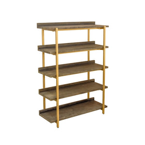 Retro Chic Black and Gold Shelving Unit