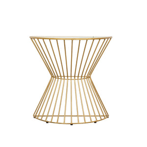 Retro Chic Gold Demi Lune Console Table