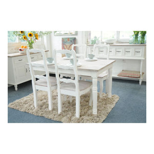 Superb Shabby Chic Antique White Dining Table Puji Furniture Beatyapartments Chair Design Images Beatyapartmentscom