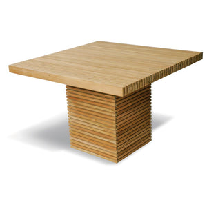Solid Teak Slatted Square Garden Table
