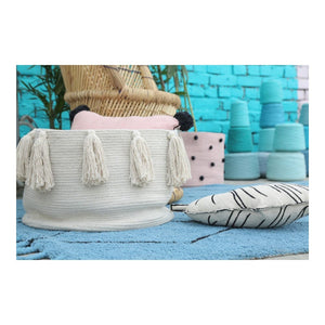Tassel Basket Natural