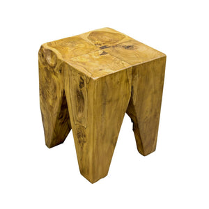 Teak Root Square Stool