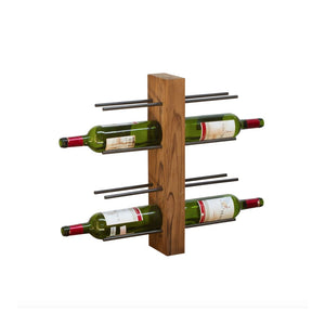 Teak Root Wall Mounted Wine Rack