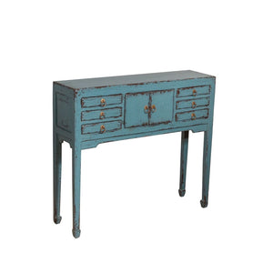 Tukang Oriental Console Table Dark Blue
