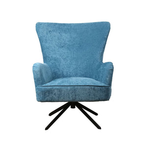 Upholstered Chenille Occasional Armchair - Ocean