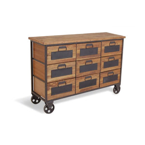 Urban Apothecary Style Chest on Wheels - Black