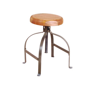 Urban Industrial Dining Stool with adjustable height
