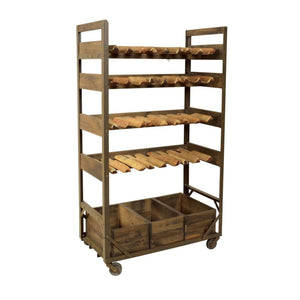 Urban Industrial Wine Rack Shelving Unit