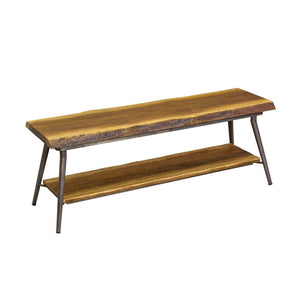 Urban Mid-Century Style TV/Media Table with Organic Live Edge