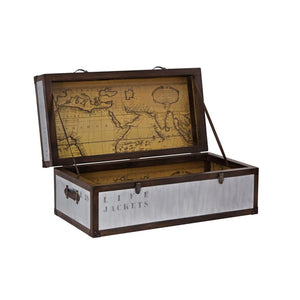 Voyager Map Trunk Coffee Table Storage