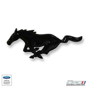 1994-2004 Mustang Running Horse Grille Ornament, Black