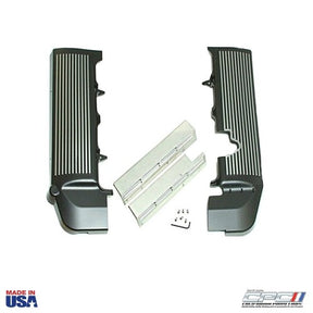 2005 - 2010 Finned Fuel Rail Covers, Black w/ Gunmetal Fins