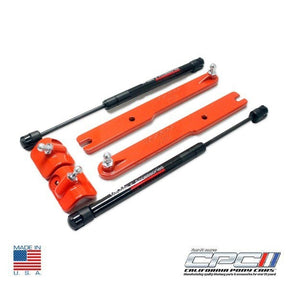 2007-2014 Mustang GT500 Gas Strut Hood Lift Kit Competition Orange