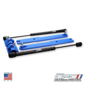 2007-2014 Mustang GT500 Gas Strut Hood Lift Kit Grabber Blue