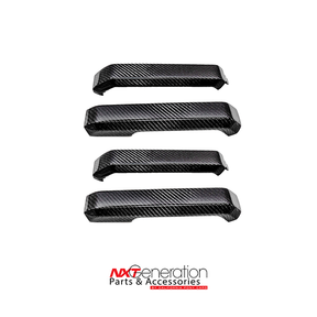 2015-2020 Ford F-Series Truck Carbon Fiber Door Pull Replacements, 4 PC Kit