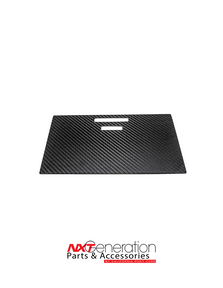 2015-2020 F-Series Truck Carbon Fiber Front Console Sliding Cubby Door Cover