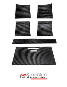 2015-2020 F-Series 6pc Carbon Fiber Woodgrain Delete kit