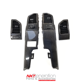 2015-2020 F-Series Truck Carbon Fiber 4pc Dash Air Vent Bezel Replacements