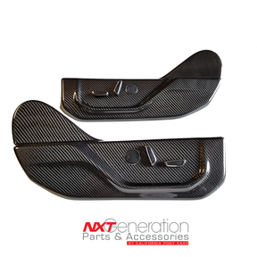 2015-2020 F-Series Truck Carbon Fiber Side Seat Cover Panel Replacements
