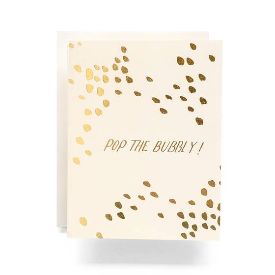 Pop The Bubbly - Ivory Greeting Card