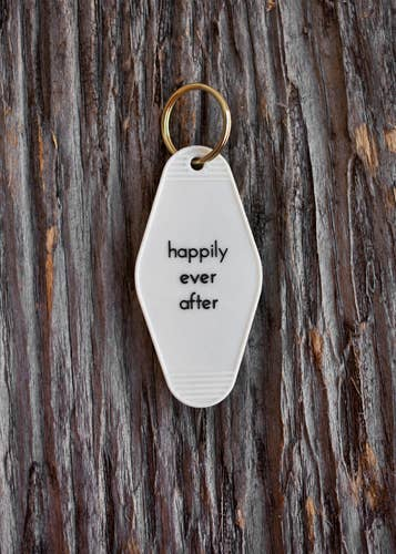 He said, She said - Happily Ever After Motel Key Tag