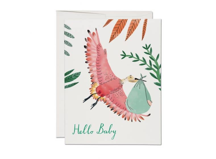 Red Cap Cards // Bird with Baby