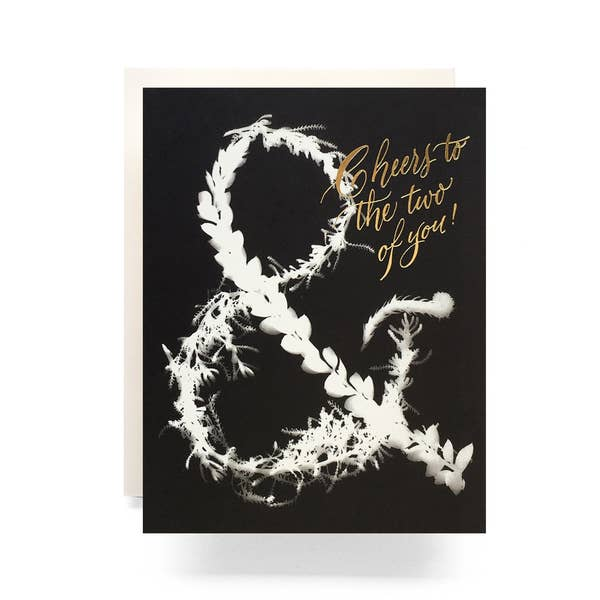 Sunprint Ampersand Wedding Card