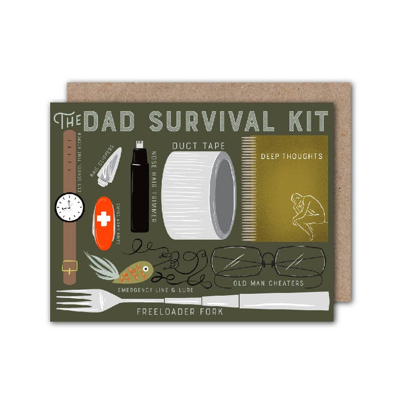 Dad Survival Kit Card