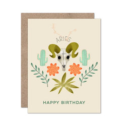 Zodiac Birthday Card | Aries