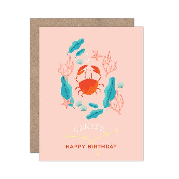 Zodiac Birthday Card | Cancer