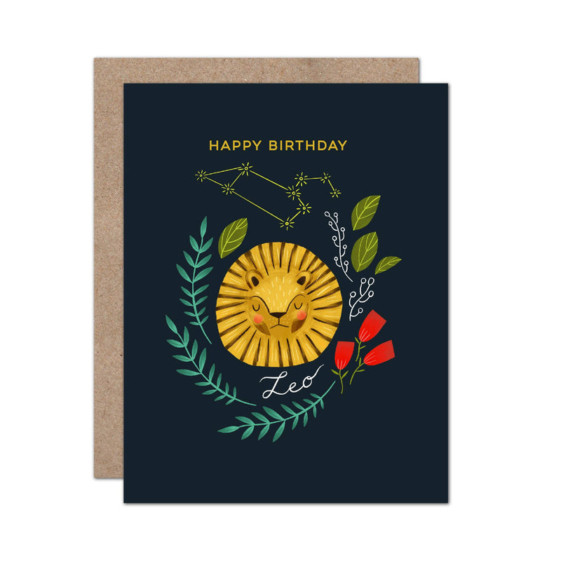 Zodiac Birthday Card | Leo