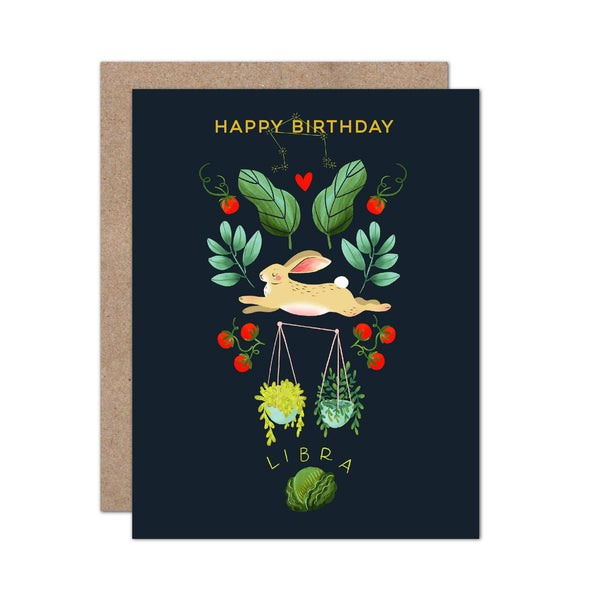 Zodiac Birthday Card | Libra