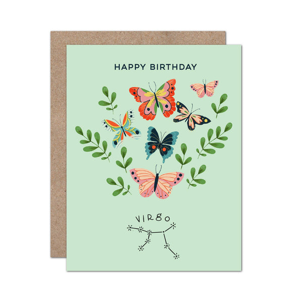 Zodiac Birthday Card | Virgo