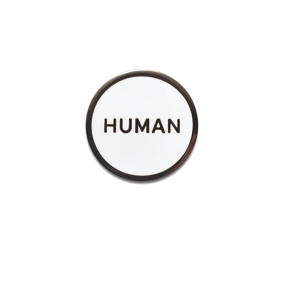 WORD FOR WORD factory - HUMAN  Enamel Pin